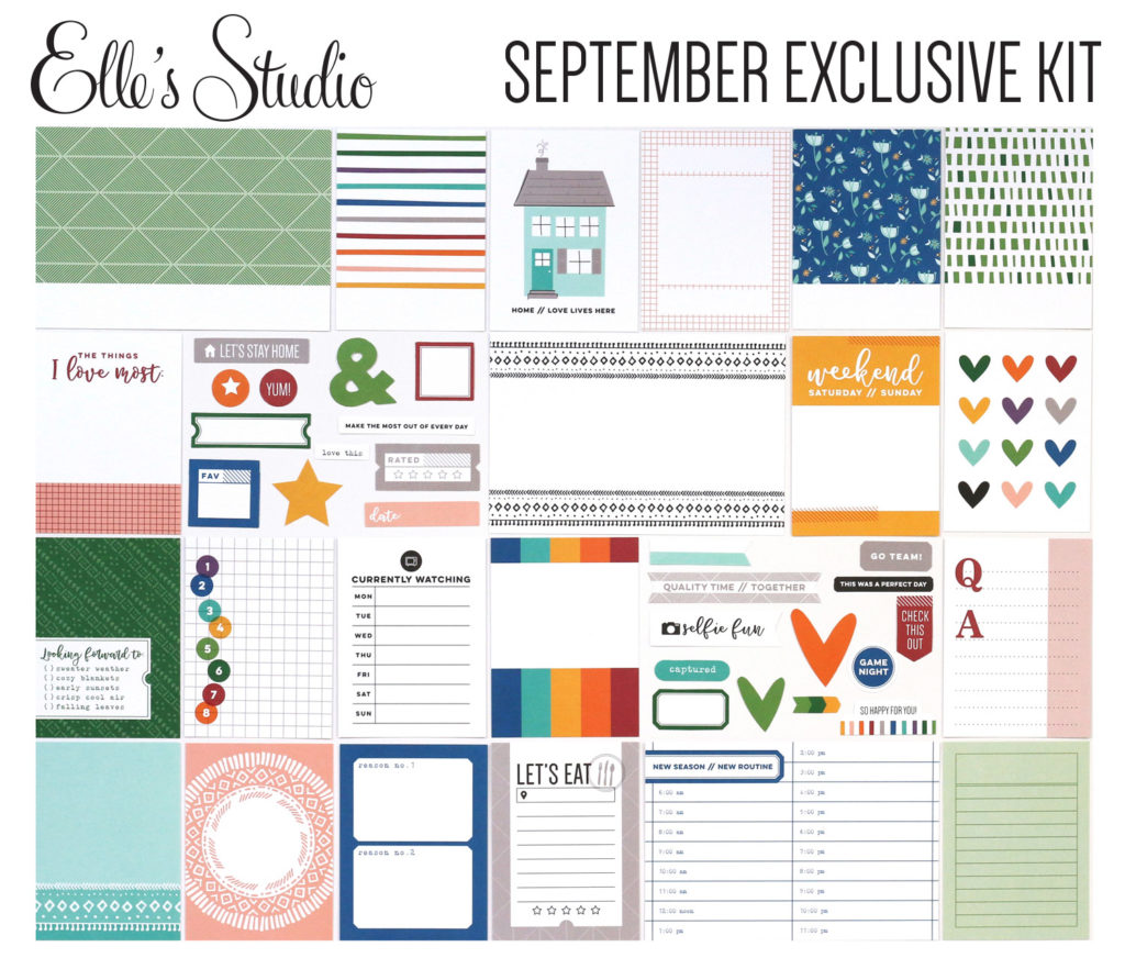 photo of Elle's Studio September Kit