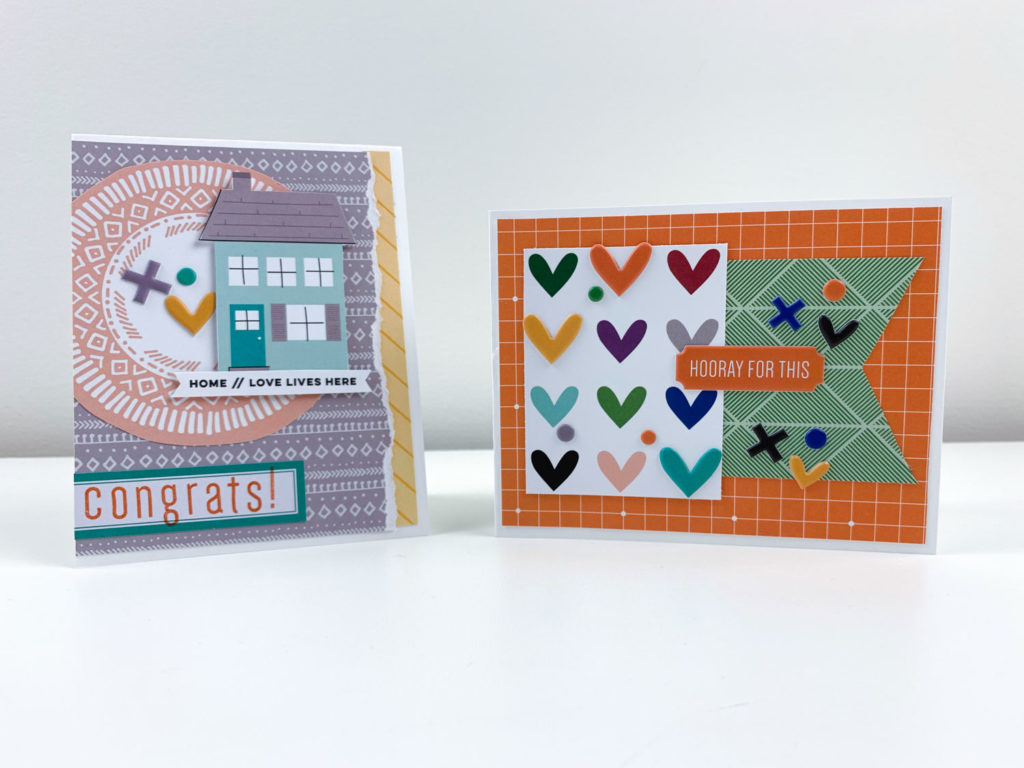 two cards created using the Elle's Studio September kit and extras