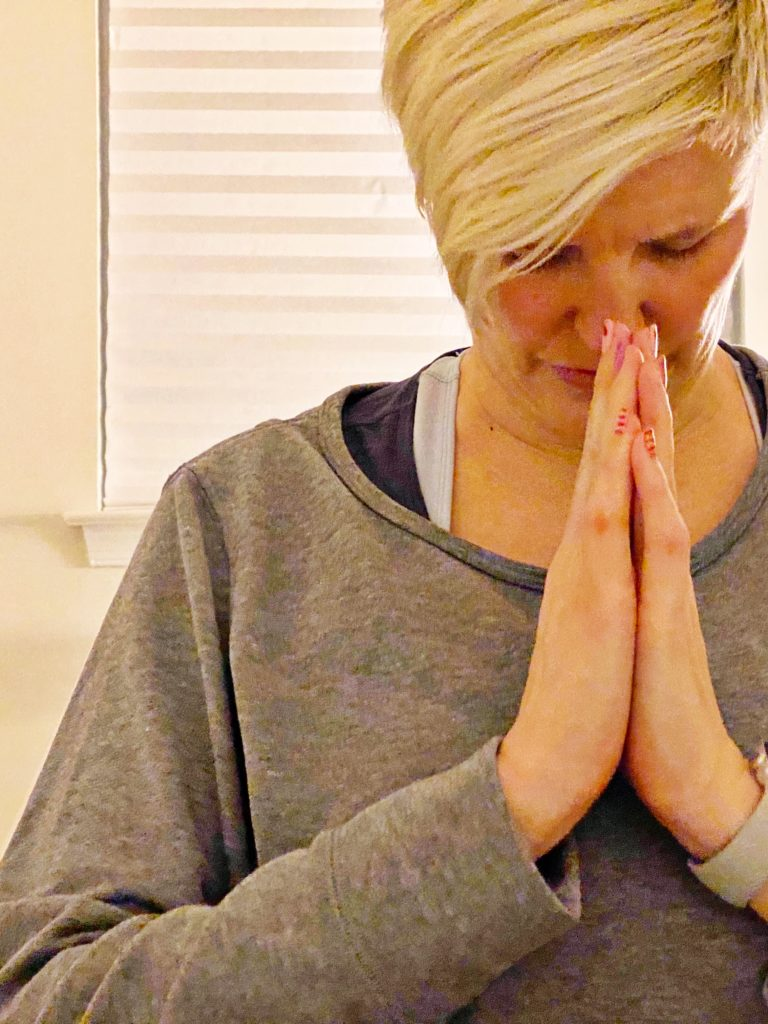 photo of hands in prayer position